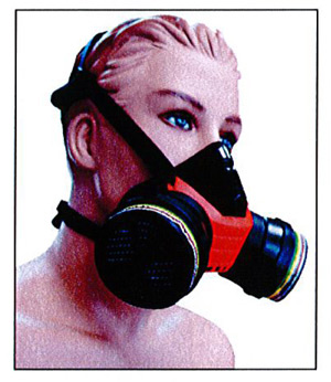 Arbeitsschutz - Atemtechnik - Doppelfilter - Halbmaske