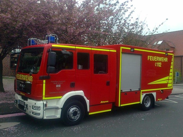 Abholung des LF-L für den LB Noswendel der Feuerwehr Wadern im Juni 2013