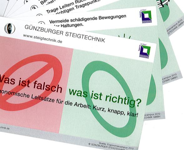 Güenzburger Steigtechnik Informationsbroschüre