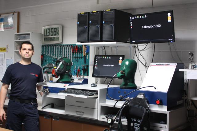 Atemschutztechnik: Prüfstand mit Labmatic 400 & Labmatic 1500