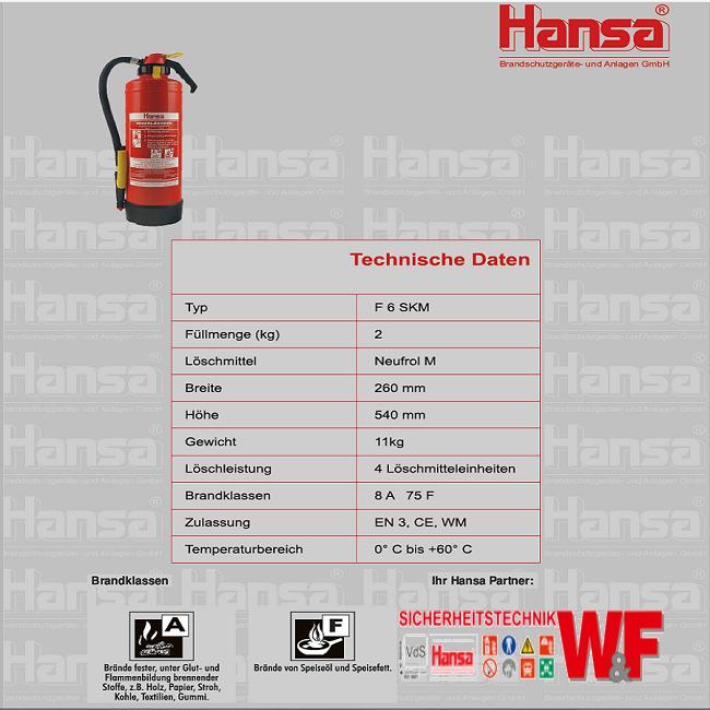 F6SKM technische Daten Fettbrand